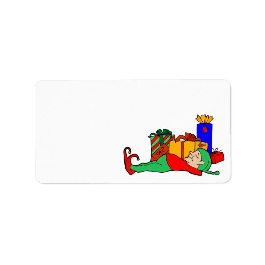 Christmas Elf Holiday Card Self Adhesive Label Address Label