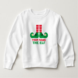Christmas Elf Name Personalize Sweatshirt