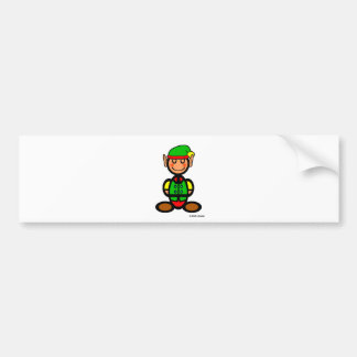 Christmas Elf (plain) Bumper Sticker