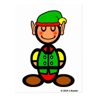 Christmas Elf (plain) Postcard