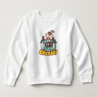 """Christmas Elf - """"Say Cheese"""" baby Sweatshirt"""