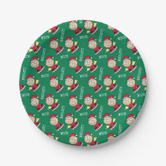 Christmas Elves Naughty or Nice 7 Inch Paper Plate