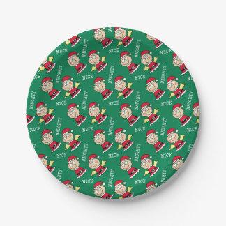 Christmas Elves Naughty or Nice Paper Plate