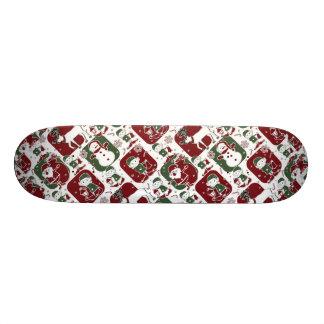 Christmas Elves & Snowmen 21.6 Cm Old School Skateboard Deck
