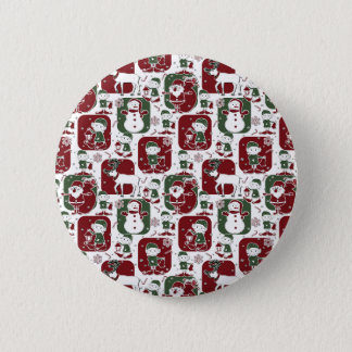 Christmas Elves & Snowmen 6 Cm Round Badge