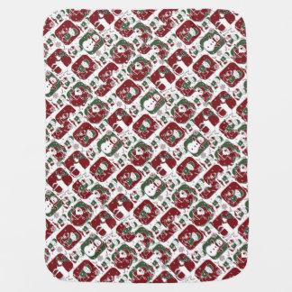 Christmas Elves & Snowmen Baby Blanket