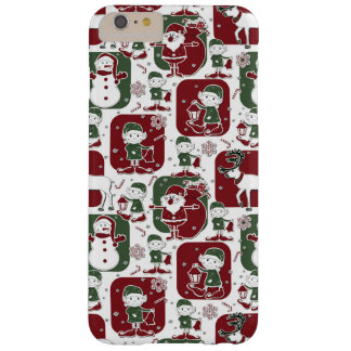 Christmas Elves & Snowmen Barely There iPhone 6 Plus Case