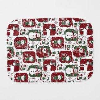 Christmas Elves & Snowmen Burp Cloth
