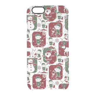Christmas Elves & Snowmen Clear iPhone 6/6S Case