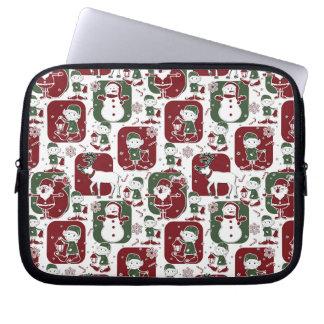 Christmas Elves & Snowmen Laptop Sleeve