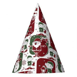 Christmas Elves & Snowmen Party Hat