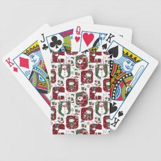 Christmas Elves & Snowmen Poker Deck