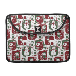 Christmas Elves & Snowmen Sleeve For MacBook Pro