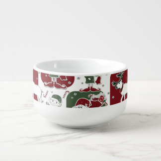 Christmas Elves & Snowmen Soup Mug