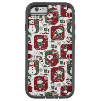 Christmas Elves & Snowmen Tough Xtreme iPhone 6 Case