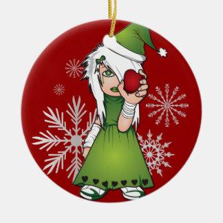 Christmas Emo Girl Ornament