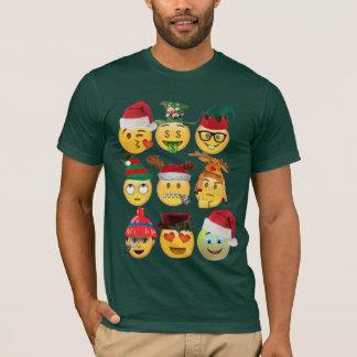 christmas emoji collection funny christmas shirt