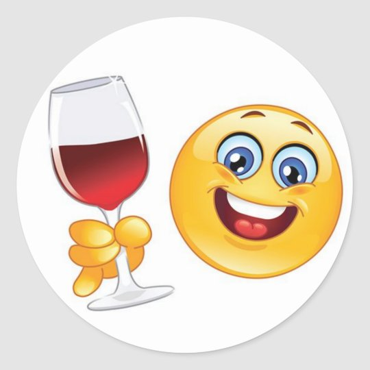 Christmas Emoji.Christmas Emoji Sticker Wine Glass Set Of 20