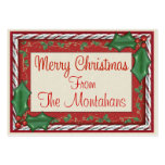 Christmas Enclosure Tag - SRF Pack Of Chubby Business Cards