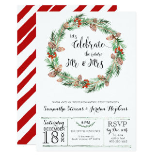 Christmas Engagement Party Invitation