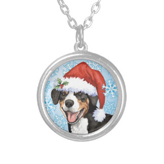 Christmas Entlebucher Silver Plated Necklace