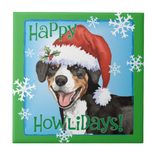 Christmas Entlebucher Tile