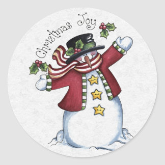 Christmas Envelope Sealer Round Sticker