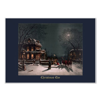 Christmas Eve by J. Hoover - Vintage Christmas Poster