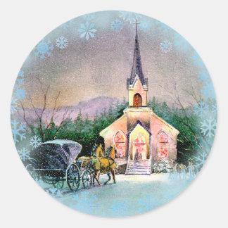CHRISTMAS EVE by SHARON SHARPE Classic Round Sticker