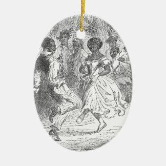 Christmas Eve Festivities on a Louisiana Estate Ceramic Oval Decoration