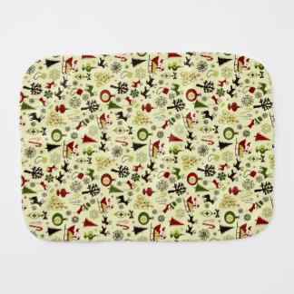Christmas Eve Pattern Burp Cloth