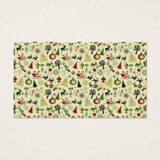 Christmas Eve Pattern Business Card
