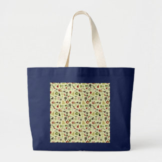 Christmas Eve Pattern Large Tote Bag