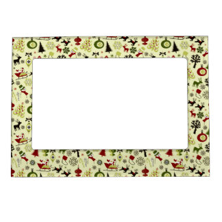 Christmas Eve Pattern Magnetic Picture Frame