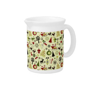 Christmas Eve Pattern Pitcher