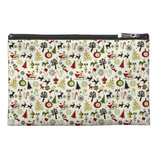 Christmas Eve Pattern Travel Accessories Bags