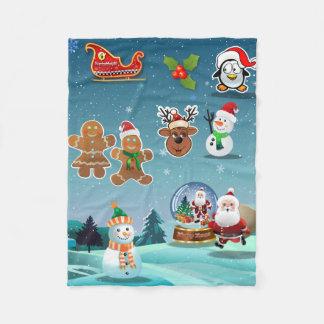 Christmas Eve Scene Fleece Blanket