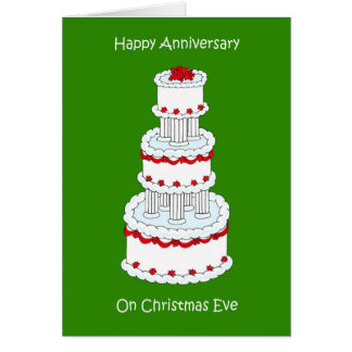 Christmas Eve Wedding Anniversary Card