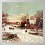 Christmas Eve Winter Scene Print