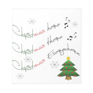 CHRISTMAS EVERYWHERE NOTEPAD