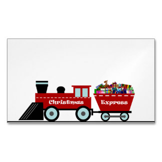 Christmas Express transparent sky.png Magnetic Business Cards
