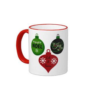Christmas Expressions Ornaments Ringer Mug