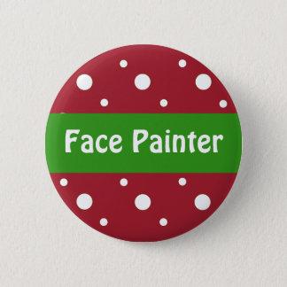Christmas 'Face Painter' Identification 6 Cm Round Badge