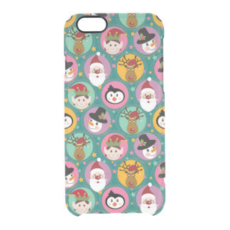 Christmas faces pattern clear iPhone 6/6S case