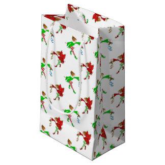 Christmas Fairies with Mistletoe Small Gift Bag