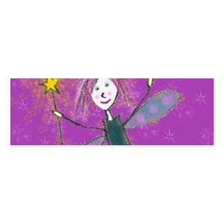Christmas Fairy Gift Tag Pack Of Skinny Business Cards