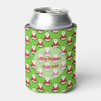 Christmas family keepsake Santa Claus pattern Can Cooler
