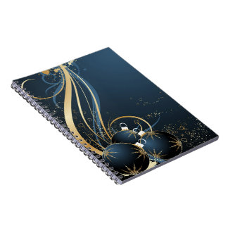 Christmas Fantasy Blue 2 Notebooks