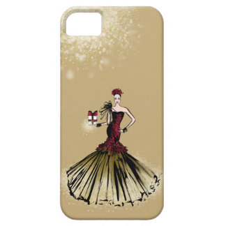 Christmas Fashion Illustration with parcel iPhone 5 Cover