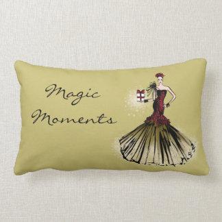 Christmas Fashion Illustration with parcel Lumbar Cushion
